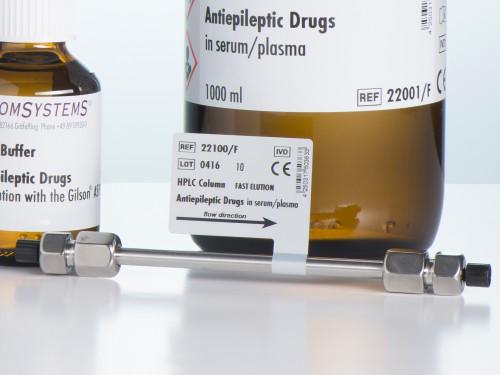 22100-F HPLC column fast elution antiepileptic drugs serum plasma