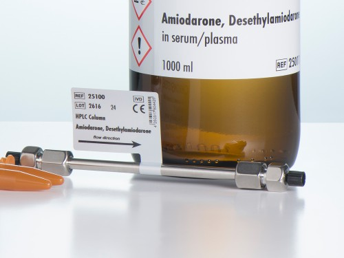 25100 HPLC column amiodarone desethylamiodarone serum plasma