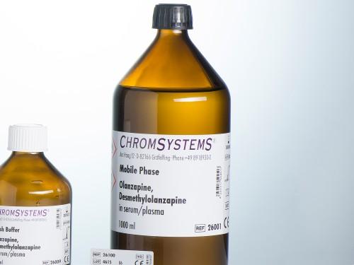 26001 HPLC mobile phase olanzapine desmethylolanzapine serum plasma