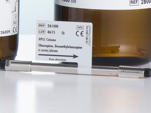 26100 HPLC column olanzapine desmethylolanzapine serum plasma