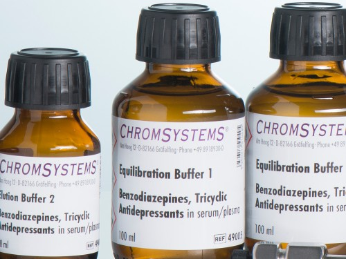 49005 HPLC equilibration buffer 1 benzodiazepines TCA serum plasma