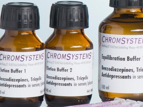 49010 HPLC elution buffer 2 benzodiazepines TCA serum plasma