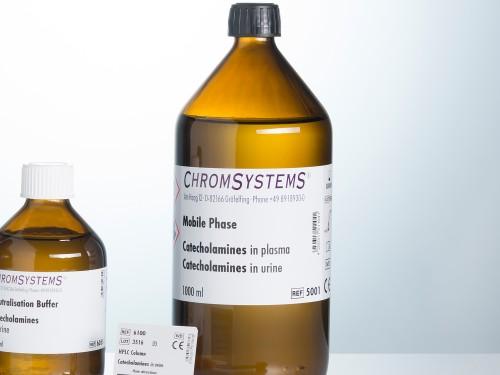 5001 HPLC mobile phase catecholamines plasma urine