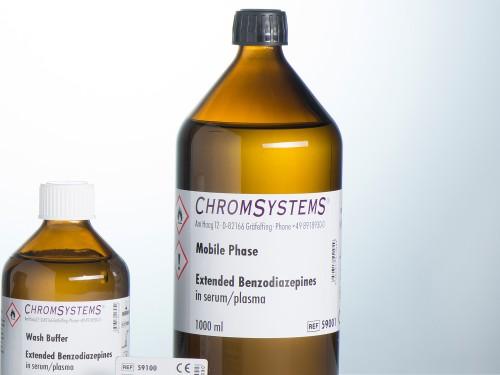 59001 HPLC mobile phase extended benzodiazepines serum plasma