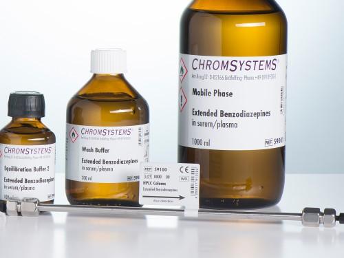 59100 HPLC column extended benzodiazepines serum plasma