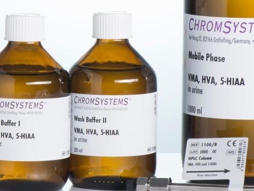 1006 HPLC wash buffer 2 VMA HVA 5-HIAA urine