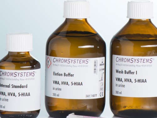 1077 HPLC elution buffer VMA HVA 5-HIAA urine
