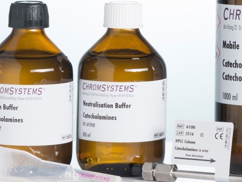 6055 HPLC neutralisation buffer catecholamines urine