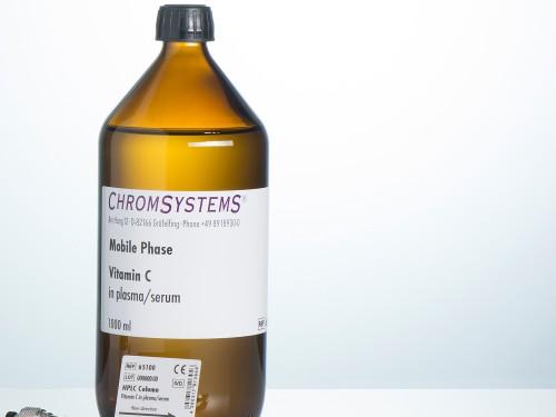 65001 HPLC mobile phase vitamin C plasma serum